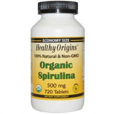 Органическая спирулина, 500 мг, 720 таблеток