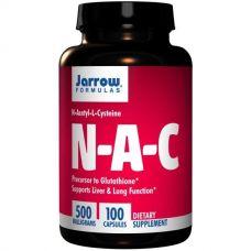 Ацетилцистеин N-A-C (N-ацетинцистеин), 500 мг, 100 капсул