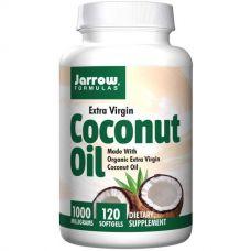 Кокосовое масло, холодный отжим, 1000 мг, 120 капсул