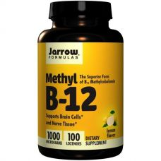Метил B12, со вкусом лимона, 1000 мкг, 100 пастилок