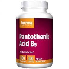 Пантотеновая кислота B5, 500 мг, 100 капсул