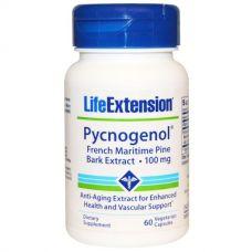 Пикногенол, экстракт коры сосны, 100 мг, 60 капсул