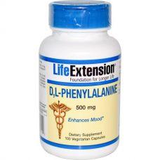 DL-Фенилаланин, 500 мг, 100 капсул.