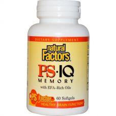 Фосфатидилсерин PS-IQ, для памяти, 60 капсул