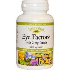 Витамины для глаз Eye Factors с 2 мг лютеина, 90 капсул