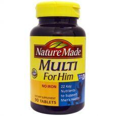 Мультивитамины для мужчин, без железа, 90 таблеток