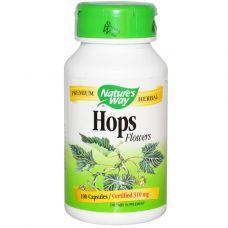 Соцветия хмеля, 310 мг, 100 капсул
