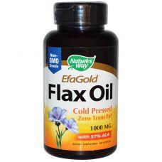 Льняное масло, 1000 мг, 100 капсул