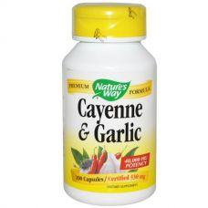 Кайенский перец и чеснок, 530 мг, 100 капсул