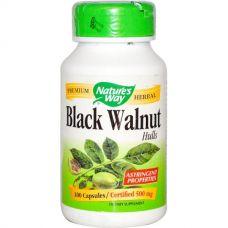 Черный орех, отруби, 500 мг, 100 капсул
