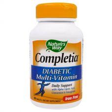 Мультивитамины для диабетиков Completia, без железа, 90 таблеток