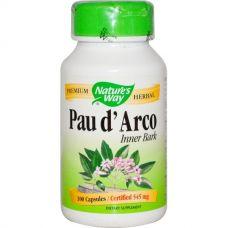 По д'арко, Pau d'Arco, 545 мг, 100 капсул
