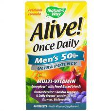 Витамины для мужчин 50+ Alive!, 60 таблеток