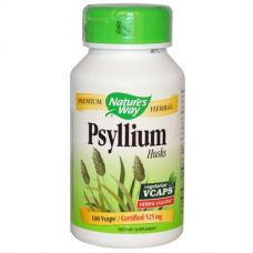 Подорожник (Psyllium Husks), 525 мг, 100 капсул