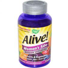 Жевательные витамины для женщин 50+ Alive!, 75 мармеладок