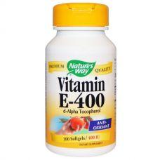 Витамин Е, 400 МЕ, 100 капсул