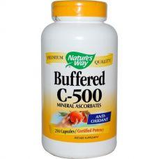 Буферизованный витамин C-500, 250 капсул
