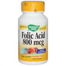 Фолиевая кислота, 800 мкг, 100 капсул
