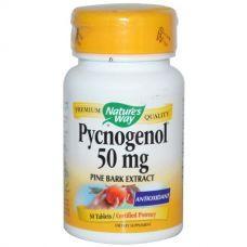 Пикногенол, экстракт сосновой коры, 50 мг, 30 таблеток