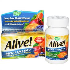 Поливитаминный комлпекс для мужчин ·Alive!, 50 таблеток