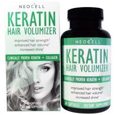 Кератин для увеличения объема волос, 60 капсул