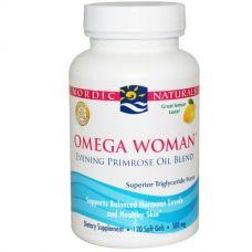 Омега для женщин, смесь масел энотеры, лимон, 500 мг, 120 таблеток