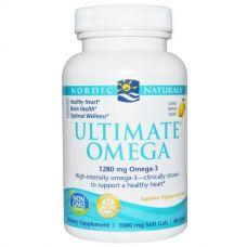 Омега-3, со вкусом лимона, 1000 мг, 60 капсул