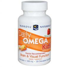 Омега для детей, фруктовый вкус, 500 мг, 30 капсул