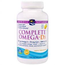 Омега 3 6 9 + D3, лимонный вкус, 1000 мг, 120 капсул