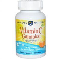 Витамин C в форме мишек, со вкусом мандарина, 250 мг, 60 мишек