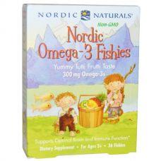 Рыбий жир, со вкусом засахаренных фруктов, 300 мг, 36 конфет