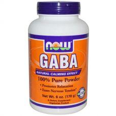 ГАМК, GABA порошок, 170 г от Now Foods