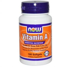 Витамин А, 10000 МЕ, 100 капсул