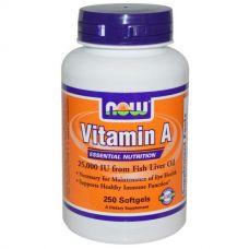 Витамин А, 25 000 ме, 250 капсул