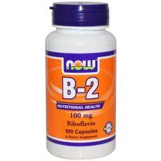 Рибофлавин, B-2, 100 мг, 100 капсул