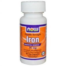 Железо, 36 мг, 90 капсул
