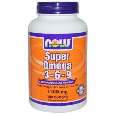 Супер Омега 3-6-9, 1200 мг., 180 капсул
