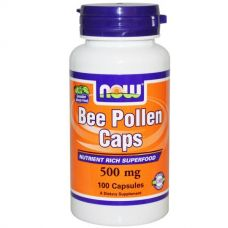 Пчелиная пыльца, Перга, 500 мг, 100 капсул