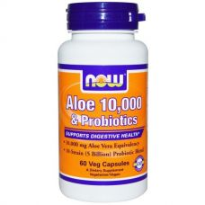 Алоэ Вера 10000 и пробиотики, 60 капсул