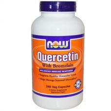 Кверцетин и бромелаин, 240 капсул