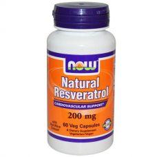 Природный ресвератрол, 200 мг, 60 капсул
