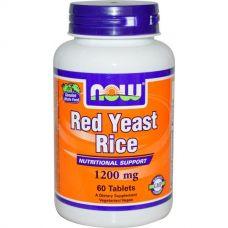 Красный ферментированный рис, 1200 мг, 60 таблеток