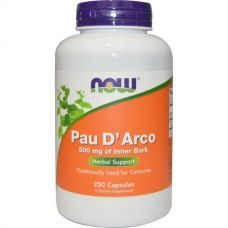 Кора муравьиного дерева, По д'арко, 500 мг, 250 капсул