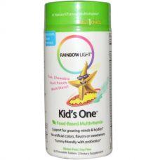 Мультивитамины Kid's One, фруктовый пунш, 30 таблеток
