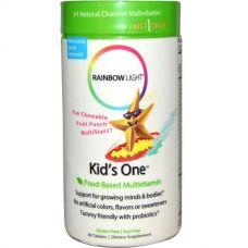 Мультивитамины для детей Kid's One, фруктовый пунш, 90 таблеток
