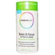 Витамины для мозга для детей и взрослых Brain & Focus, 90 мини таблеток