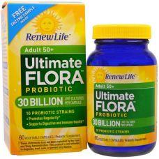 Пробиотики Flora Probiotic 50+, 30 миллиардов, 60 капсул