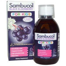 Черная бузина, сироп для детей, с ягодным вкусом, 230 мл
