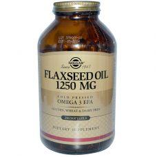Льняное масло, 1250 мг, 250 капсул