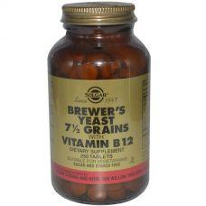 Пивные дрожжи с витамином В12, 250 таблеток
